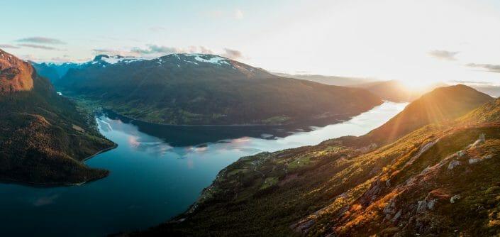 Sunset in Loen - Norway